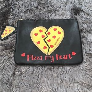 Betsey Johnson Pizza my Heart Clutch